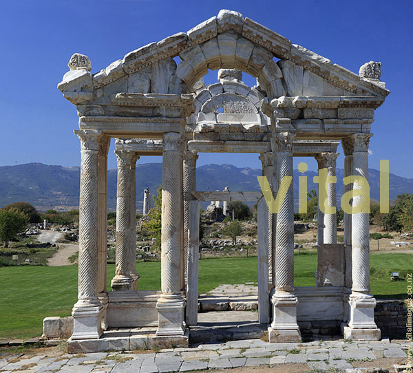 Ornamental Gate Tetrapylon built second century Aphrodisias temple